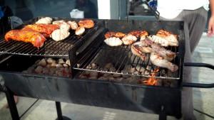 Delicious chicken grilling