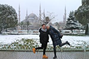 Sultan Ahmet with my Romanian friend